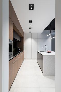 Kuchnia | Offa Studio Outdoor Kitchen Design, Modern Kitchen Design, Home Decor Kitchen, Interior Design Kitchen, Home Kitchens, Ceiling Light Design, Kitchen Cabinet Design, Minimalist Kitchen, Küchen Design