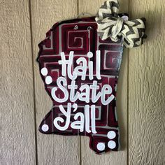 Mississippi State door hanger on Etsy, $42.00