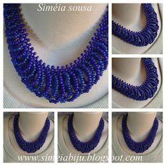 Siméia Biju's: Maxi Colar Blue Pen