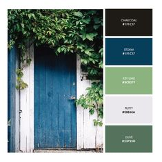 Choosing a color palette is one of the best ways to convey the mood of your brand and create an experience for your customers. Building a cohesive color palette… Green Color Schemes, Green Colour Palette, Blue Colour Palette, Blue Color Pallet, Green Colors, Modern Color Palette, Colours, Bedroom Colors, Gray Bedroom Color Schemes