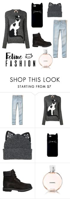 """Cats in black"" by mir-engell-s ❤ liked on Polyvore featuring Hollister Co., N°21, Silver Spoon Attire, Forever 21, Timberland and Chanel"