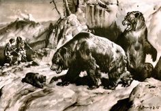 cave_bear_by_zdenek_burian_1940.jpg (1600×1105)