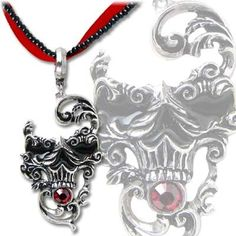 Venetian Mask of Death. Love the jewelry but the pendant would be bad ass as a tattoo!!