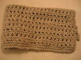 Garter eyelet lace washcloth - would also make a nice afghan or scarf