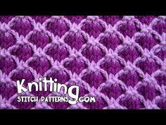 Two Color Lattice | Knitting Stitch Patterns