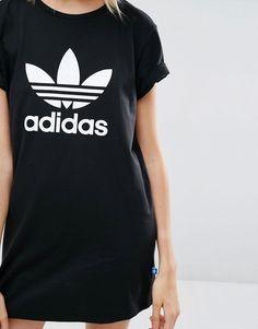 Image 3 of adidas Originals T-Shirt Dress With Trefoil Logo