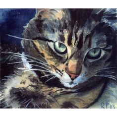 Maine Coon Tabby Cat Art Print of my watercolor painting Reproduction... ($26) ❤ liked on Polyvore featuring home, home decor, wall art, watercolor wall art, watercolour painting, girls wall art, water colour painting and water color painting