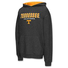 Kids' Colosseum Tennessee Volunteers College Block Pullover Hoodie | Finish Line | Heather Black
