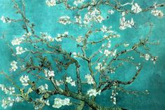 Vincent Van Gogh Turquoise Almond Branches in Bloom, San Remy Plastic Sign Plastic Sign by Vincent van Gogh at AllPosters.com