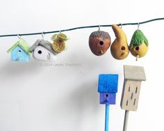12  Easy to Make Accessories for Fairy Gardens: Make Miniature Bird and Butterfly Houses