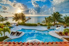 Amazing views from the Villas at Belizean Cove Estates in San Pedro. Perfect for watching the sunrise infront of the Caribbean Sea