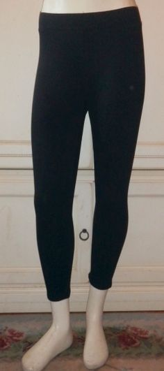 Brand New Style&Co Ladies Petite Black Capri Stretch Leggings They have a Black 1/4 Wide Self Stripe Down the Sides of the Legs (White is shown to show self seam down the legs and is listed separately) Machine Washable/Dry Gentle Cycle Retail Price 17.99 Size Chart: Measurements Are Not Stretched Size PS PM PL Waist 26 28 30 Hips 29 31 34 Inseam 22 1/2 22 1/2 22 1/2 We Offer A Combined Shipping Discount