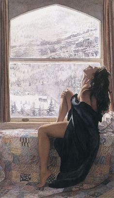Steve Hanks is recognized as one of the best watercolor artists working today. The detail, color, and realism of Steve Hanks' paintings are unheard of in this difficult Woman Painting, Painting & Drawing, Realistic Paintings, Painted Ladies, Watercolor Artists, Watercolour Art, Beautiful Paintings, Romantic Paintings, Oeuvre D'art