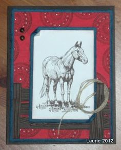 Bandana Lariat by Lala - Cards and Paper Crafts at Splitcoaststampers.....LOVE the twine lasso!