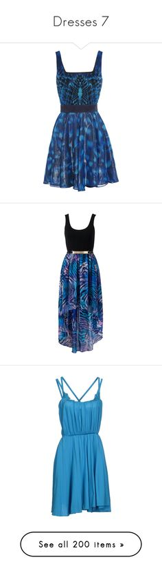 """Dresses 7"" by crimsonday on Polyvore featuring dresses, vestidos, short dresses, robes, black, mini, mini dress, silk chiffon dress, short couture dresses e couture dresses"