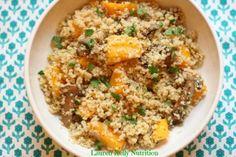 Mushroom and Squash Quinoa Risotto | Lauren Kelly Nutrition