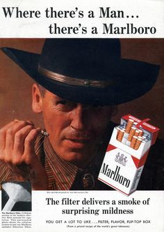1958 Where there's a Man ... there's a Marlboro