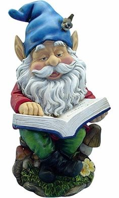 I have to get a reading gnome for the green room!