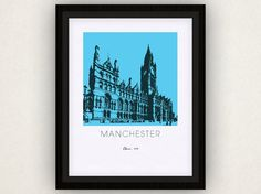 Manchester Art Poster by iLikeMaps on Etsy, $20.00