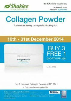Aduhhhh Promosi berganda-ganda bulan ini.....Promosi Beli 3 percuma 1 kotak Collagen Powder...Cepat grab sekarang...sampai 31 dec sahaja......cepat siapa cepat dia dapat.....nak awet muda..?   Collagen Powder jawabnya......nak kasih muka licin..?   Collagen lah jawabannya......jadi cepat hubungi kami untuk dapatkannya.....bye....