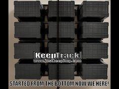 Keep Track Overhead Storage - Part 2: DIY Installation - YouTube Garage Organization, Garage Storage, Storage Spaces, Overhead Storage, Keep Track, Tote Storage, Diy Garage, Storage Solutions, Ceiling