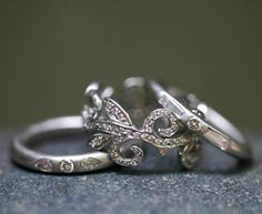 Cathy Waterman - platinum/diamond ring collection