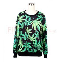Casaco Marijuana green leaf