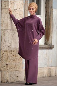 Islamic Fashion, Muslim Fashion, Hijab Fashion, Hijab Style, Turban Style, Beautiful Hijab, Beautiful Dresses, The Dress, High Neck Dress