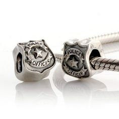 "TOPSELLER! 925 Sterling Silver ""Police Officer "" Charm for Pandora, Biagi, Chamilia, Troll and More Bracelets $18.99"