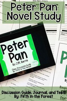This novel study is for Peter Pan by J.M. Barrie. You'll receive a discussion guide, journal, and test for BOTH the unabridged and classic starts version of this novel. Enhance your student's reading comprehension while having fun! Use in small groups, whole group, read alouds, literature circles, novel studies, and more! #iteachfifth #iteachfourth #iteachthird #reading #iteach3rd #iteach4th #iteach5th #iteachelementary #middlegrades #peterpan #jmbarrie #classicliterature #classicstarts