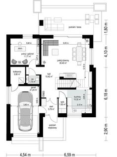 Projekt domu Oszust 2 132,02 m² - koszt budowy - EXTRADOM Floor Plans, Country, Projects, Case, Future House, Floor Layout, Log Projects, Rural Area, Country Music