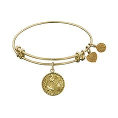 Angelica Collection Yellow Brass The Sea Bangle Bracelet by Angelica Collection -- Awesome products selected by Anna Churchill