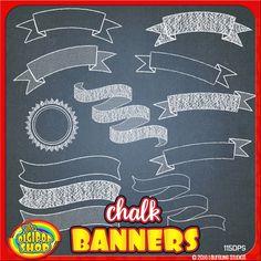 clip art chalkboard banners with chalkboard background Chalkboard Clipart, Chalkboard Banner, Chalkboard Designs, Chalkboard Background, Framed Chalkboard, Background Banner, Chalk Texture, Banner Clip Art, Design Café