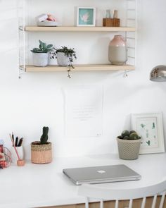 tifmys – Home office, String shelf & sukkulents.