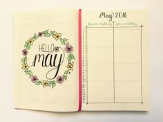 Image result for may bullet journal cover page