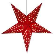 red paper star hanging light