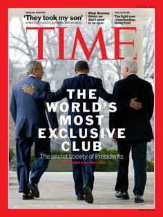 The latest issue of TIME, featuring our cover story on the secret society of presidents, will hit newsstands Friday.   (Photograph by Brooks Kraft/Corbis for Time)