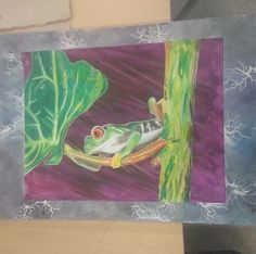 Frog in a storm