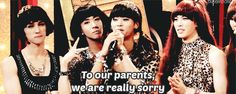 ¡A veces se pasa tanto de la raya que los miembros incluso sienten la necesidad de pedir perdón a sus padres!