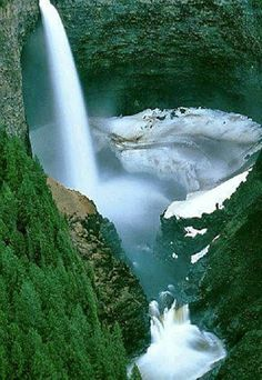 Helmcken Falls on the Murtle River within Wells Gray Provincial Park in British Columbia, Canada.