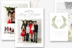 Christmas Card Template Bundle, Holiday Card Bundle — By Stephanie Design