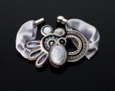 Blue Green Soutache Bracelet Soutache Jewelry от SBjewelrySoutache
