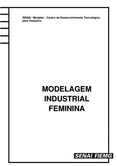 MMOODDEELLAAGGEEMM IINNDDUUSSTTRRIIAALL FFEEMMIINNIINNAA SENAI / Modatec - Centro de Desenvolvimento Tecnológico para Vest...