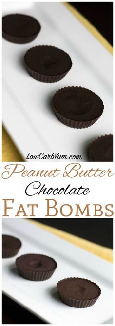 Do you love chocolate and peanut butter? Satisfy your craving with this chocolate peanut butter keto fat bomb recipe. A perfect ketogenic snack! | LowCarbYum.com