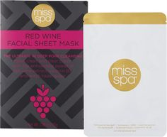 Miss Spa Red Wine Healing Facial Sheet Mask