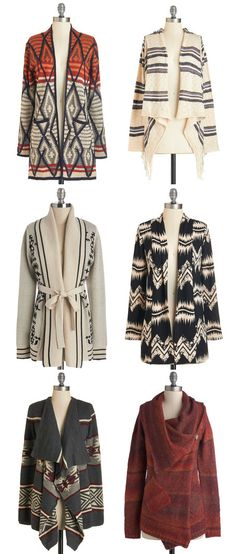 LOTS AND LOTS OF CARDIGANS!!! yay!