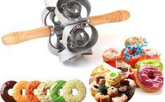 Donut Maker Cutter 6 Side Roller Revolving Mold Doughnut Tool Fondant Cake for sale online Donut Maker, Doughnut Shop, Mini Donuts, Baking Tools, Diy Tools, Easy Desserts, Kitchenware, Cool Kitchens, Dog Food Recipes
