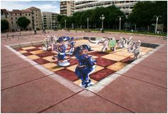 Anamorphic Street Painting for the Toulon Street Art Festival 2012. A Planet Streetpainting project with Remko van Schaik, Peter Westerink,...
