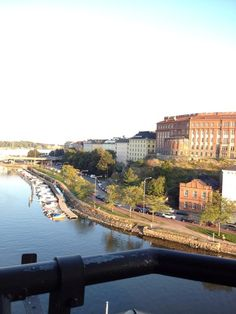 My view for the cocktail hour at the Hilton Strand in Helsinki, Finland. Perfect place & weather!
