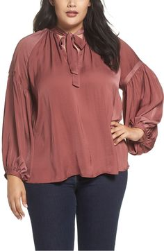 Main Image - Lucky Brand Jenna Peasant Top (Plus Size)